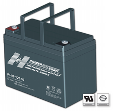 Power-Sonic PHR-12150 Sealed Rechargeable Battery - 12V 36Ah