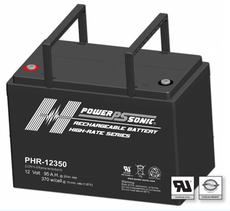 Power-Sonic PHR-12350 Sealed Rechargeable Battery - 12V 98Ah