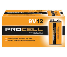 Duracell Procell 9 Volt Batteries - PC1604 (12 Pack)