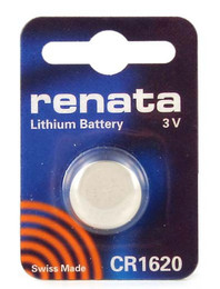 Renata CR1620 Battery - 3 Volt 68mAh Lithium Coin Cell