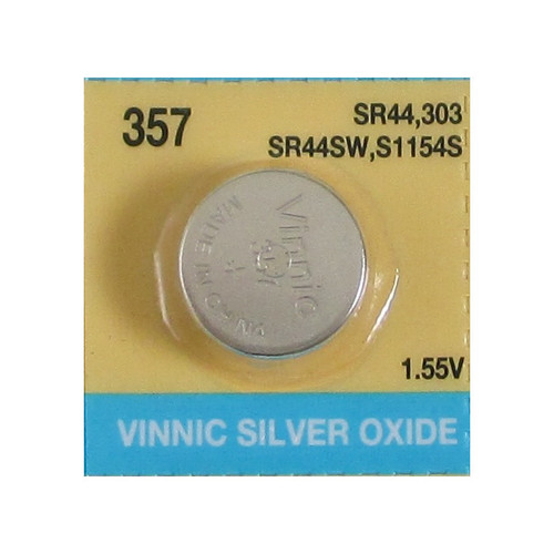 Evergreen SR44W, 357 Silver Oxide Watch Battery 1.55V High Drain