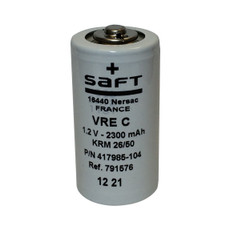 VRE C Saft  - 2300mAh C NiCd Button Top #417985-104