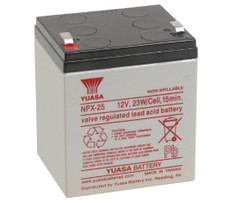 Enersys Yuasa NPX-25T Sealed Rechargeable Battery - 12V 5Ah - .250""