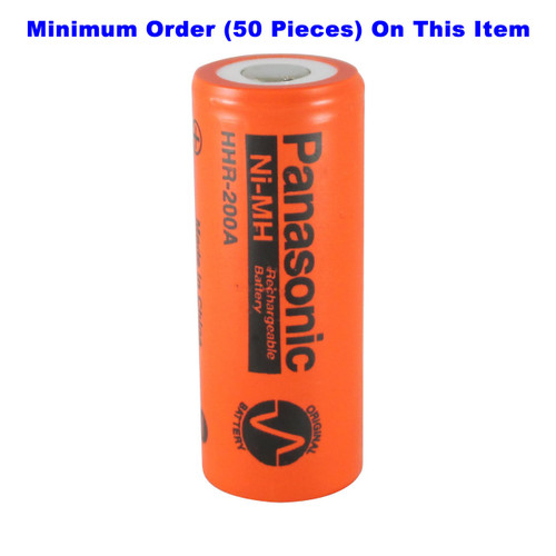 Panasonic HHR-200A 4/5A Ni-MH Battery - 1.2 Volt 2000mAh Flat Top