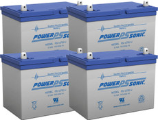 APC RBC14  Replacement Batteries ( 4 ) 12v 75Ah Batteries