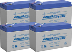Liebert S 1400MT Replacement Batteries  ( 4 ) 12v 7Ah Batteries