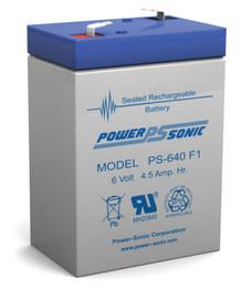 Lithonia ELB06042 Battery - 6 Volt 4.5 Amp Hour