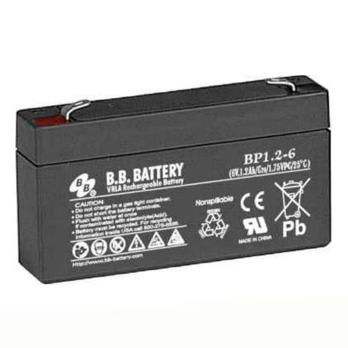 B.B. Battery BP1.2-6 - 6V 1.2Ah AGM - VRLA Rechargeable Battery