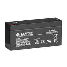 B.B. Battery BP3-6 - 6V 3Ah AGM - VRLA Rechargeable Battery