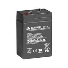 B.B. Battery BP4-6 - 6V 4Ah AGM - VRLA Rechargeable Battery