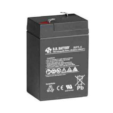 B.B. Battery BP5-6 - 6V 5Ah AGM - VRLA Rechargeable Battery