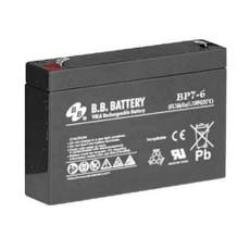 B.B. Battery BP7-6 - 6V 7Ah AGM - VRLA Rechargeable Battery