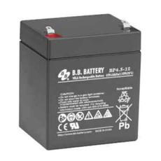 "B.B. Battery BP4.5-12 (.187"") - 12V 4.5Ah AGM - VRLA Rechargeable Battery"