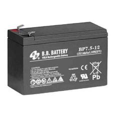 "B.B. Battery BP7.5-12 (.250"") - 12V 7.5Ah AGM - VRLA Rechargeable Battery"