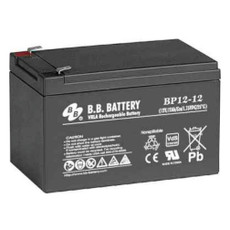 "B.B. Battery BP12-12 (.250"") - 12V 12Ah AGM - VRLA Rechargeable Battery"