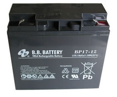 "B.B. Battery BP17-12 (.250"") - 12V 17Ah AGM - VRLA Rechargeable"