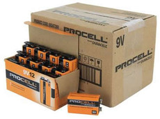 Duracell Industrial 9 Volt Batteries - 6LP3146 - ID1604 - Case of 72