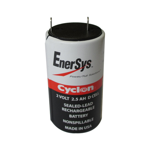 NATO 6140–01–149–4810 Battery - Enersys Cyclon 2V 2.5AH D Cell