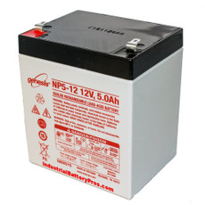 "Enersys - Genesis NP5-12 Battery - 12V 5.0Ah (.187"" Terminals)"