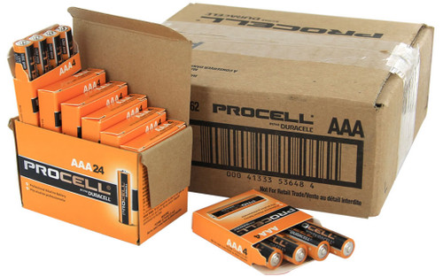 Duracell Industrial AAA Batteries - LR03 - PC2400 - Case of 144