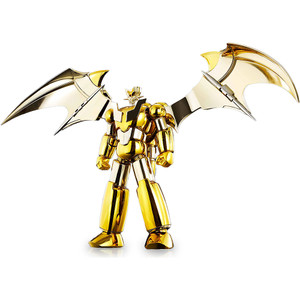 "Shin Mazinger Z (Gold Ver.) [Tamashii Nations World Tour Exclusive]: ~5.5"" Tamashii Nations Super Robot Chogokin Die-Cast Action Figure"