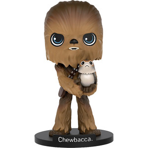 Chewbacca: Funko Wobblers x Star Wars: The Last Jedi Bobble Head Figure
