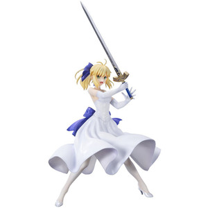 "Saber / Artoria Pendragon [White Dress]: ~7.8"" 1/8 Fate/Stay Night- Unlimited Blade Works x Bellfine  Statue Figurine"