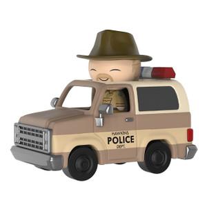 Hopper w/ Sheriff Deputy Truck: Funko Dorbz Ridez x Stranger Things Vinyl Figure [#040]