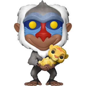 Rafiki with Simba - Flocked (EE Exclusive): Funko POP! Disney x Lion King Vinyl Figure [#301]