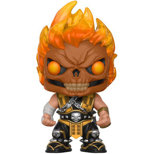 Scorpion Flaming Skull (Hot Topic Exclusive): Funko POP! Games x Mortal Kombat Vinyl Figure [#255]