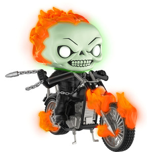 Ghost Rider w/ Bike [Glow-in-Dark] (PX Exclusive): POP! Marvel x Marvel Universe Vinyl Figure [#033]