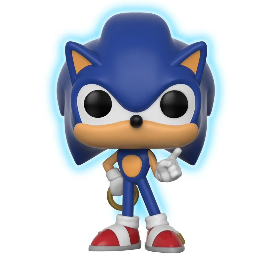 Sonic W Ring Glow In Dark Toys R Us Exclusive Funko Pop Games X Sonic The Hedgehog Vinyl Figure 283 26572 Toysdiva