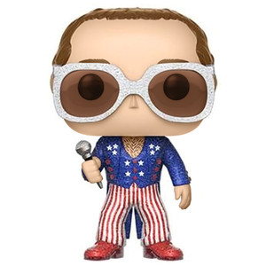 Elton John - Red, White & Blue [Glitter] (f.y.e. Exclusive): Funko POP! Rocks Vinyl Figure [#063]