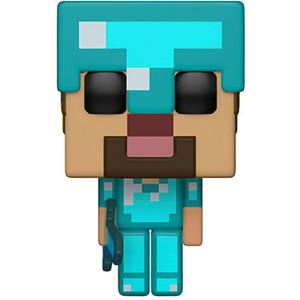 Steve in Diamond Armor (GameStop Exclusive): Funko POP! Games x Minecraft Vinyl Figure [#322]