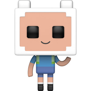 Finn: Funko POP! Animation x Adventure Times / Minecraft Vinyl Figure [#411 / 32235]