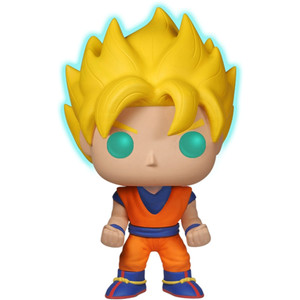 Super Saiyan Goku [Glow-in-Dark] (EE Exclusive): Funko POP! Animation x DragonBall Z Vinyl Figure [#014 / 05040]