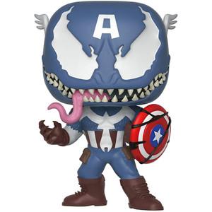 Venomized Captain America: Funko POP! Marvel x Venom Vinyl Figure [#364 / 32686]