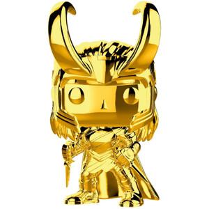 Loki [Chrome Color]: Funko POP! Marvel x Marvel Stud10s - The First Ten Years Vinyl Figure [#376 / 33435]