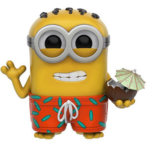 Phil w/ Coconut: Funko POP! Movies x Minions Paradise Vinyl Figure [#120 / 09223]