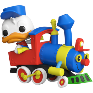 Donald Duck on the Casey Jr. Circus Train Attraction: Funko POP! Trains x Disneyland Resort 65th Anniversary Vinyl Figure [#001 / 50947]