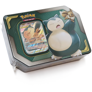Eevee & Snorlax:  Pokemon GX Tag Team Trading Card Tin Box  [80529]