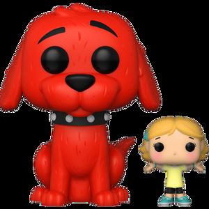 Clifford with Emily Elizabeth: Funko POP! Books x Clifford The Big Red Dog Vinyl Figure [#027 / 51380]