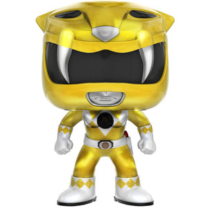 Yellow Ranger [Metallic] (GameStop Exclusive): Funko POP! TV x Power Rangers Vinyl Figure