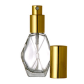 1oz Spray Bottle (Diamond) w/ Gold or Silver Sprayer & Cap - As Low As $1.04!