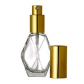 1oz Spray Bottle (Diamond) w/ Gold or Silver Sprayer & Cap - As Low As $1.04!