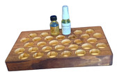 1 Tier Pine Counter Display for 1oz Boston Round Bottles