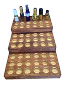 3 Tier Pine Counter Display with some example bottles