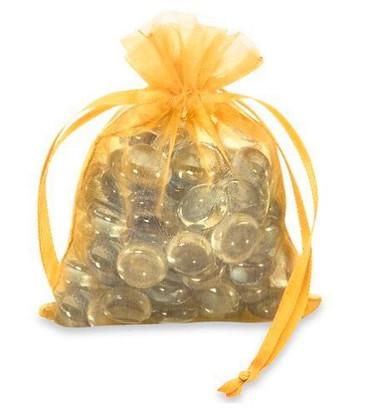 "3 x 4"" Gold Organza Bag"