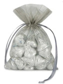 Organza Bag in Silver (showing an idea with candy)