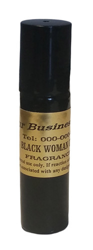 1/3oz Black Rollon Bottle with Gold Label